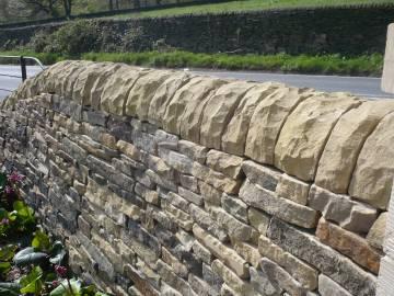 yorkstone dry stone walling