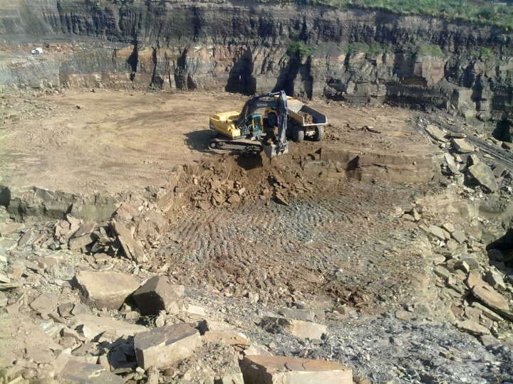 Quarrying Overburden in a Yorkstone Quarry