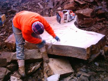 working yorkstone block