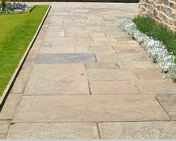 Reclaimed yorkstone slabs