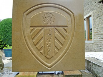 Leeds United stone plaque