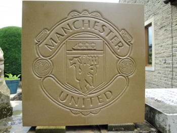 Manchester United stone plaque