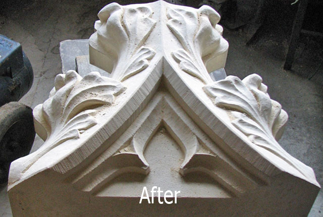Stone ornament restoration