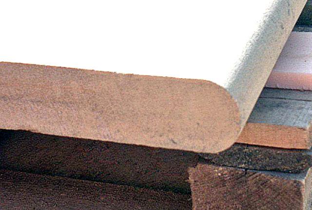 Bullnose step edge